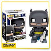 "A PREVIEWS Exclusive! Funko celebrates the 30th-anniversary of Frank Miller's seminal graphic novel, The Dark Knight Returns, with a special series of POP! Vinyl Figures. From the crime-ridden Gotham City of the near future comes these figures, rendering the characters of Miller's graphic novel in the fan-favorite POP! vinyl style! Each figure stands 3 1/2"" tall and features limited articulation. Build your collection of POP! vinyl figures based on The Dark Knight Returns today!"