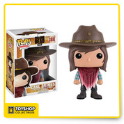 Carl Grimes is back in Pop! vinyl form! The resilient young Grimes, from AMC's The Walking Dead, features the character wearing a bloodied poncho during the show's memorable 6th season. The Walking Dead Carl Pop! Vinyl Figure comes packaged in a window display box and measures approximately 3 3/4-inches tal