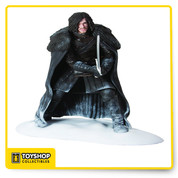 "The Game of Thrones Figure - Jon Snow comes of course from the popular HBO series, Game of Thrones. Jon Snow stands 7-1/2"" tall atop the snow base and features a great likeness to actor, Kit Harington. This figure is non-articulated. Includes a base. Window box packaging."