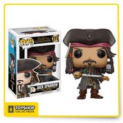 Escape office doldrums with this Pirates of the Caribbean Jack Sparrow Pop. Vinyl Figure. Standing 3 3/4-inches tall, this Jack Sparrow figure looks like a stylized, Pop. version of his on-screen counterpart from the Pirates of the Caribbean Disney movie series, played by Johnny Depp.