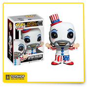 One of the more scary and eerily patriotic clowns in horror movie history has been given the Pop! Vinyl treatment with this House of 1000 Corpses Captain Spaulding Pop! Vinyl Figure! The vulgar gas station owner looks true to form in his patriotic clown costume and makeup. When you see just how cool the 3 3/4-inch tall House of 1000 Corpses Captain Spaulding Pop! Vinyl Figure looks you'll want to collect the rest in the horror movie line from Funko!