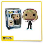 From the Marvel Universe, Spider Gwen Unmasked, as a stylized POP vinyl from Funko