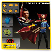 Dr. Stephen Strange, MD was once a prominent but egotistical surgeon. Following a tragic automobile accident, he searched the world for a way to heal his badly damaged hands. After becoming a student of the Ancient One, Strange not only mastered the martial arts but the mystical arts as well. He now serves as Sorcerer Supreme and from his base in the Sanctum Sanctorum he guards the world from mystical and magical threats. Doctor Strange joins the One:12 collective with a comprehensively detailed outfit and unique character specific accessories.      THE DOCTOR STRANGE ONE:12 COLLECTIVE FIGURE FEATURES:   One (1) newly developed head portrait  One:12 Collective body with  over 28 points of articulation Hand painted authentic detailing Over 16cm tall Six (6) interchangeable hands including One (1) pair of fists (L & R) One (1) pair posing hands style A (L & R) One (1) pair of posing hands style B (L & R)    COSTUME:  Two (2) interchangeable Eye Of Agamotto (open and closed) Sculpted gloves on each hand Cloak Of Levitation with integrated wire for dynamic posing  Intricately tailored cloth  outfit     ACCESSORIES:  One (1) Astral form projection (attaches to posing post) Spell effect- defensive  (attaches to forearm) Spell effect- offensive (attaches to forearm) One (1) One:12 Collective display base with logo One (1) One:12 Collective adjustable display post