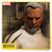In the alternate future of Earth-807128, Wolverine has aged. Now known as Old Man Logan, he lives with his family in a barren wasteland trying to maintain as normal a life as possible.  When events turn against him Logan's family and everything important to him is destroyed by the Hulk's gang. Using his claws for the first time in years, Old Man Logan exacts revenge, sparing only the baby known as Bruce Jr. With his family gone, Old Man Logan heads off into the sunset with the baby vowing to set things straight.  Old Man Logan joins the One:12 Collective with a detailed outfit and portrait sculpture. He also includes the baby Hulk who may be the last of the Banner bloodline.  THE OLD MAN LOGAN ONE:12 COLLECTIVE FIGURE FEATURES:  One (1) newly developed head portrait One:12 Collective body with over 30 points of articulation Real fabric outfit with intricate tailoring Over 15cm tall Six (6) interchangeable hands includingBaby Hulk One (1) pair of fists (L&R) One (1) pair of clawed fists (L&R) One (1) pair of posing hands (L&R)  COSTUME:  Leather look overcoat White t-shirt Sculpted belt with decorative buckle Workman pants Sculpted cowboy boots  ACCESSORIES:  Baby Hulk Removable hat Backpack that holds baby Hulk One (1) One:12 Collective display base with logo One (1) One:12 Collective adjustable display post