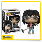 Joey Ramone, as a stylized pop vinyl from Funko! figure stands 3 3/4 inches and comes in a window display box. Check out the other music figures from Funko! collect them all!