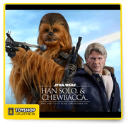 Star Wars Episode 7 Han Solo and Chewbacca 1/6th Scale Sideshow Exclusive