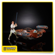 Star Wars Black Series X-34 Landspeeder with Luke Skywalker SDCC Hasbro In Hand