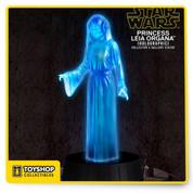 Star Wars Princess Leia Organa Holographic Statue SDCC Light Up