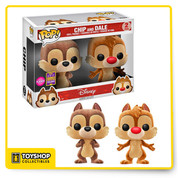 Disney Chip and Dale Flocked Pop SDCC