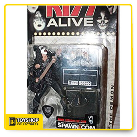 McFarlane Toys brings to life Kiss action figures. Each figure stands about 6'' inches tall and each figure includes accessories, detail and nice articulation. Each figure sold separately. Collect them all.