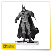 Inspired by the art of Simon Bisley and sculpted by William Paquet, this hand-painted cold-cast porcelain statue is a variant second edition of the popular statue. The limited edition Batman Black and White by Simon Bisley Second Edition Statue measures approximately 7 3/4-inches tall x 5-inches wide x 4-inches long and features a logo-shaped base. It comes packaged in a black-and-white box.