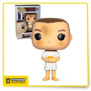 Quick! Hide Eleven from the scientists! Your favorite character from the Netflix hit Stranger Things is back as a Pop! Vinyl. Made by Funko, this Stranger Things Eleven Hospital Gown Pop! Vinyl Figure #511 depicts Eleven right after she makes her escape from the laboratory. This Pop! Vinyl Figure comes packaged in a window display box and measures approximately 3 3/4-inches tall