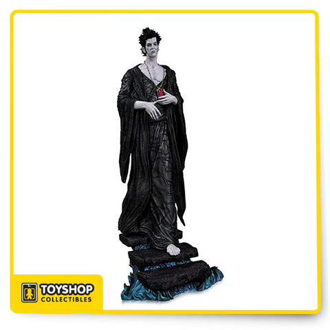 """From the pages of THE SANDMAN: OVERTURE — the acclaimed prequel to Neil Gaiman's award-winning Vertigo series THE SANDMAN — comes Dream of the Endless, ready for display in your very own home with this intricately sculpted statue. Measures Approximately 11.25"""" Tall."""