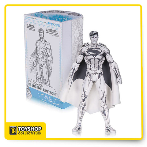 Joining the Blueline collection, this DC Comics Blueline Superman by Jim Lee Action Figure features 11 points of articulation and comes with a Jim Lee sketch card! Superman stands 6 inches tall.
