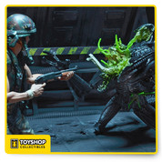 Aliens Series 12 Black Xenomorph Warrior Battle Damaged Figure