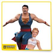 DC Bombshells Power Girl and Superman Statue by Jack Mathews