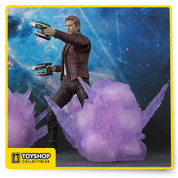 Guardians of the Galaxy Vol.2's Star-Lord joins the S.H.Figuarts figure line up! Standing 6.7 inches (17.02cm) tall this figure features a digitally colored head for incredible realism and includes explosion effects for recreating scenes from the film!    Box Contents  S.H.Figuarts Star-Lord figure Masked head Unmasked head Interchangeable hands 2 Blaster weapons Explosion effects