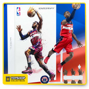 "This 1/9 scale figure features a museum-quality John Wall head sculpt with authentic likeness, with ""multi-layer"" paint application; and a specially developed advance 1/9 scale body, with 34 points of articulation, accurate physical appearance, and the best mobility ever.   Includes:  8 Pieces of John Wall signature interchangeable hands. Spalding basketball Accurate Washington Wizards official Away uniform Black Basketball compression shorts Blue Arm Sleeve A pair of Official Stance NBA socks A pair of John Wall player edition sneaker Newly designed figurine stand Washington Wizards team logo moveable plate for stand x"