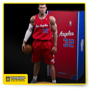 "Amazingly detailed and highly posable figure of NBA power forward Blake Griffin, in his #32 Los Angeles Clippers uniform. Features include two stunningly life-like head sculpts, 40 points of articulation, five pairs of interchangeable hands (two pairs with magnets inside to hold the Spalding basketball), and a white compression sleeve for his right arm.  PRODUCT INCLUDES ENTERBAY proudly presents This Real Masterpiece: NBA Collection – Blake Griffin 1/6 scale collectible figurine includes:  2 (two) head sculpts of museum-like representation of Blake Griffin with authentic likeness, each with a different facial expression. Each head sculpts are individually hand-painted with newly developed HD ""multi layer\"" paint application Newly developed NBA-BG body with 40 points of articulation, the height is according to Griffin's actual height, therefore instead of the usual 12"" figurine, this product is actually around 13"" tall Accurate Official NBA Los Angeles Clippers Home Team Jerseys with shorts and a pair of white socks 5 (five) pairs of interchangeable hands, including two pairs with magnets on them to hold the basketball A set of white elbow pad and a pair of white basketball tights A 1/6 scale Spalding basketball with magnet inside Figure stand with Official NBA Los Angeles Clippers logo"