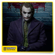 Enterbay Dark Knight Joker limited edition collectible Highly detailed and amazing figure from The Dark Knight! Not even the most minor and intricate detail has been left out. 30+ points of articulation An amazing action figure from The Dark Knight! Fans of Christopher Nolan's Batman movies will be delighted with the incredible amount of detail that this figure contains. The Batman Dark Knight Joker HD Masterpiece Action Figure features Heath Ledger's portrayal of the sadistic Joker at 1:4 scale, with more than 30 points of articulation and a wide array of advanced components and accessories. The Enterbay Joker HD Masterpiece Action Figure is wearing a movie-accurate signature costume featuring the purple velvet coat with a removable holder for grenades, a grey blazer, green waistcoat, purple pants, a pair of braces, patterned purple shirt, and a green tie. The Joker also comes with 11 interchangeable hands - 8 of them with gloves - along with 11 poker cards in the 1:4 scale. But that's not all! The Joker also comes with exciting movie-accurate weapons, including an RPG Launcher, 5 grenades with 2 styles in 3 different colors, a knife, a Glock 17 pistol, and an M76 machine gun. This figure also comes with a Joker figurine stand. Simply wonderful! Ages 14 and older.