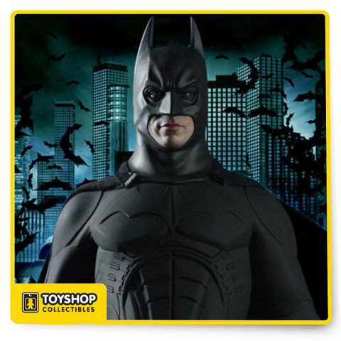 Imported from Hong Kong. The long awaited 1:4 Scale HD Masterpiece: The Dark Knight series is finally released. Batman the titular character from The Dark Knight, Enterbay is excited to recreate this character into the 1:4 scale high end figurine. This fantastic Batman figurine includes 3 Batman head sculpts with authentic likeness and different facial expressions, 1 Bruce Wayne head sculpt with authentic likeness, newly developed HD-TDK action body with more than 30 articulations, movie-accurate signature Batman rubber suit with boots, gloves, velvet bat cloak and the iconic belt with magnet components, which would allow it to hold different accessories, 8 pieces of interchangeable hands with gloves, 2 sets of foldable large Batarangs and 3 sets of the small Batman darts, 2 large grenades (one is normal and one has expanded), 4 small grenades (2 normal ones and 2 expanded), the special Batman claw, and the signature Batman bronze gun and a Batman figurine stand.