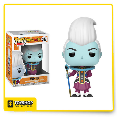 From the anime and manga series, Dragon Ball Z, comes this Dragon Ball Super Whis Pop! Vinyl Figure #317! This figure measures about 3 3/4-inches tall and comes packaged in a window display box.