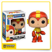 Mega Man - Fire Storm Mega Man Pop! Vinyl Figure  Mega Man is a video game series staring a robot character of the same name and his many counter parts. The series began in 1987 on the NES began a series of over 50 games on multiple systems.  Be sure to grab Mega Man in his Fire Storm colour scheme for your Pop! Vinyl collection!