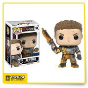 Funko Pop! Games: Gears of War! Gears of War made its Funko debut with the San Diego Comic-Con exclusive Marcus Fenix Pop! and now the rest of the line is on the way! A new saga begins for one of the most acclaimed video game franchises in history. After narrowly  escaping an attack on their village, JD Fenix, son of legendary war hero Marcus Fenix, and his companions, Kait Diaz and Del Walker, must rescue the ones they love and discover the source of a monstrous new enemy. Featuring characters from Gears of War 4 iconic characters from the original trilogy will also be making their debut: Marcus Fenix, Clayton Carmine, and the Locust Drone will round out this new exciting Pop! Series. Funko Pop! Games: Gears of War! Gears of War made its Funko debut with the San Diego Comic-Con exclusive Marcus Fenix Pop! and now the rest of the line is on the way! A new saga begins for one of the most acclaimed video game franchises in history. After narrowlyescaping an attack on their village, JD Fenix, son of legendary war hero Marcus Fenix, and his companions, Kait Diaz and Del Walker, must rescue the ones they love and discover the source of a monstrous new enemy. Featuring characters from Gears of War 4 iconic characters from the original trilogy will also be making their debut: Marcus Fenix, Clayton Carmine, and the Locust Drone will round out this new exciting Pop! Series.
