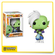 Zamusu is widely regarded as a genius among all the Kais, with his amazing knowledge of ki powers. He doesn't let anything stand in the way of his vision, and despite his sometimes dark actions, still retains a sense of duty. With his white mohawk and Potara earrings that he took from his former master Gowasu, this is one Pop! Vinyl Figure that you won't want to miss out on adding to your collection!