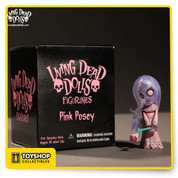 This Living Dead Dolls mini figure is terror you can fit in your pocket! This 2-inch PVC figure portrays Posey in pink. Collect them all!