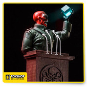 Red Skull Deluxe Art Scale 1/10 - Marvel Comics CCXP 2017 exclusive limited edition Made in Polystone Hand painted Includes base and pulpit
