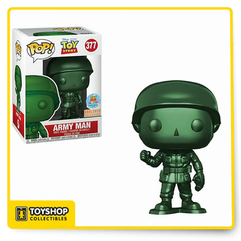 Disney Toy Story Land Army Man Metallic 377 Box Lunch Exclusive Pop