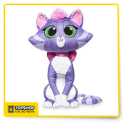 The purr-fectly adorable Hissy is fit for some kitty cuddles. The feline favorite from Disney Channel's new animated series Puppy Dog Pals makes a sweet lap cat as this soft huggable plush.    Features Genuine, Original, Authentic Disney Store Detailed plush sculpturing Embroidered features Glittering detail on eyes Plush satin bow