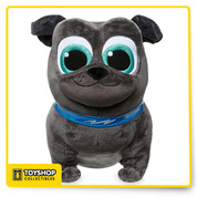 The fun-loving Bingo loves adventures with his brother Rolly, and lots of hugs. The irresistibly cute star of Disney Junior's new animated series Puppy Dog Pals would love to be friends with your own little pup. Magic in the details  Detailed plush sculpturing Embroidered features Glittering detail on eyes PVC collar with glitter flash appliqué Part of our Puppy Dog Pals Plush Collection