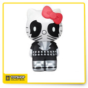 Fans of Hello Kitty and KISS, rejoice! It's Sanrio's ever-popular and cute little kitty cat, Hello Kittty, made up to look like Peter Criss' Catman from the band KISS, and in adorable Pop! Vinyl form! This Hello Kitty KISS Catman Pop! Vinyl Figure comes complete with the Catman's cool clothing, belt, and black face makeup; it's one item that lovers of KISS, Hello Kitty, and Pop! Vinyl truly won't want to miss out on. Measures about 5 1/2-inches tall.