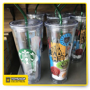 Disney Parks Starbucks Acrylic Tumbler. This Acrylic Tumbler come with the straw and is 24 oz.