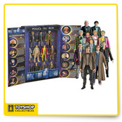 Doctor Who 11 Doctors Action Figure Set for the ultimate collector.No need to decide who was your favorite Doctor Who with this awesome collector's set featuring all 11 Doctor Who figurines in a Tardis display box.