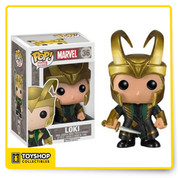 The Dark World film as a 3 3/4-inch tall bobble head. Rendered in the adorable stylized Pop! Vinyl figure form, Loki appears with helmet as he does in the Thor: The Dark World film and looks absolutely fantastic. Ages 14 and up.