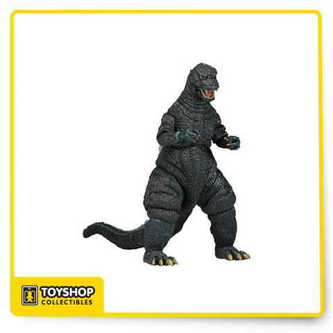 Godzilla 12 inch Head to Tail Action Figure - Classic 1985 Godzilla - In celebration of the new Godzilla motion picture,  with our second version of the beloved monster based on the movie Godzilla 1985 (originally titled The Return of Godzilla). The figure stands over 6' tall, with a head-to-tail measurement of over 12' long. It features incredible detail, including a bendable tail and nearly 30 points of articulation!