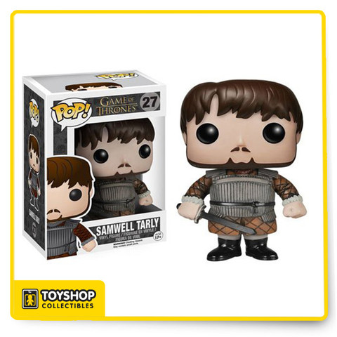 This Game of Thrones Samwell Tarly Pop! Vinyl Figure features the smart and portly man of the Night's Watch from the show measuring 3 3/4-inches tall. Rendered in Funko's awesome Pop! Vinyl Figure format, this fantastic figure is a must-have for Game of Thrones fans!