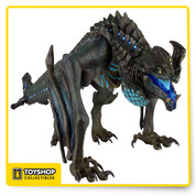 """From the epic Pacific Rim movie , ultra-deluxe kaiju action figure is the hotly anticipated, fan-demanded Otachi. One of the most deadly Category IV kaiju, Otachi is capable of flight, and can spit an acid corrosive enough to melt everything from office buildings to the armor of a Jaeger! This massive, extra-detailed figure measures nearly 18"""" long and almost 7"""" tall, and is to scale with our Jaeger action figures. It features over 30 points of articulation, including a fully articulated tail, plus an interchangeable tongue that can be removed to equip a sculpted """"acid spitting"""" effect."""