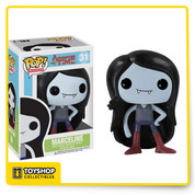Your favorite deceivingly young vampire from Adventure Time with Finn and Jake has been given the Pop! Vinyl treatment with the Adventure Time Marceline Pop! Vinyl Figure! Standing 3 3/4-inches tall, the wild rocking Vampire Queen looks true to form with her long, black hair, fangs, and brown boots. Ages 5 and up.