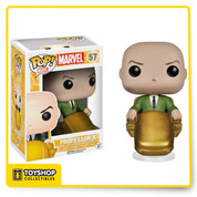 Professor Charles Francis Xavier, I presume. He may not look like it, but this handsome fellow can help you form your own team of superhero mutants. Order your 3 3/4-inch tall X-Men Classic Professor X Pop! Vinyl Figure and get started! Ages 3 and up.
