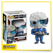 From the Mass Effect video game series from BioWare, Garrus Vakarian has been given the Pop! Vinyl treatment with this Mass Effect Garrus Pop! Vinyl Figure! Garrus stands 3 3/4-inches tall, and makes a great gift for children and adult collectors alike.