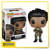 From 2K Games' multiplayer game, Evolve, Maggie is a Trapper Hunter, specializing in tracking down and trapping monsters. The Evolve Maggie Pop! Vinyl Figure measures approximately 3 3/4-inches tall. Hunt or be hunted! Ages 17 and up.