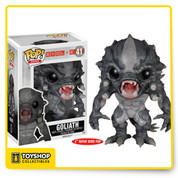 It's hunt or be hunted in the 2K Games' multiplayer game, Evolve! This highly durable melee monster will rampage through your pop collection! The supersized Evolve Goliath Monster Pop! Vinyl Figure measure 6-inches tall! Ages 17 and up.