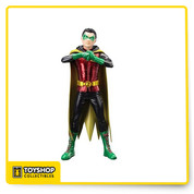 From  KOTOBUKIYA , ROBIN the expression on Damian's face is outstanding, conveying his disdain for those around him with a haughty sneer that's barely covered by his green mask! Sculpted by Atelier Bamboo, Damian Wayne Robin stands just under 6 1/2 inches tall (in the ARTFX+ 1/10th scale) and like all ARTFX+ statues he has magnets in his feet for extra stability on his included display base.