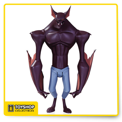 Fans of the Batman: The Animated Series and The New Batman Adventures rejoice! Based on the designs of Bruce Timm, comes Batman The Animated Series Man-Bat Action Figure as he stands 6-inches tall. Dr. Kirk Langstrom, otherwise known as Man-Bat, is featured in his blue jeans. The Man-Bat action figure features multiple points of articulation and comes in blister card packaging. Ages 14 and up.