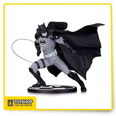 The Dark Knight leaps from the pages of the best-selling series Justice League into your home with this sensational statue designed by superstar artist Ivan Reis! This Batman Black and White Ivan Reis Statue is a limited edition of 5,200 pieces and stands about 6 1/2-inches tall.