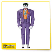 The Animated Series and The New Batman Adventures rejoice! Based on the designs of Bruce Timm, comes Batman The Animated Series Joker Action Figure as he stands 6-inches tall. The Joker is featured in his purple outfit with his iconic smile. The Joker action figure features multiple points of articulation and comes in blister card packaging. Ages 14 and up.